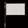 Blank Flag Banner 3d rendering