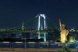 night scene of rainbow bridge important traveling destination in odaiba harbor tokyo japan - 178620724