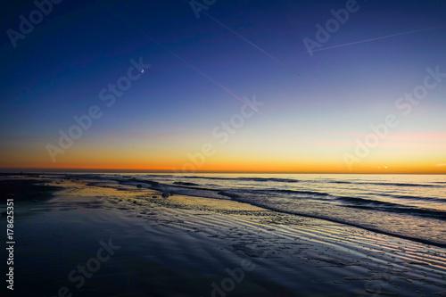 Fotobehang Noordzee Nachts am Meer