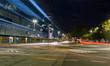 night traffic in the city center, Szczecin, Poland - 178634391