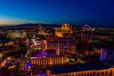 Fototapeta Forest - Aerial view of Las Vegas strip in Nevada at night - USA © Simon Dannhauer