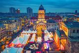Christmas market, Deutscher Dom and konzerthaus in Berlin, Germany - 178637506
