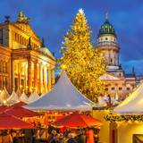 Christmas market, French church and konzerthaus in Berlin, Germany - 178637587