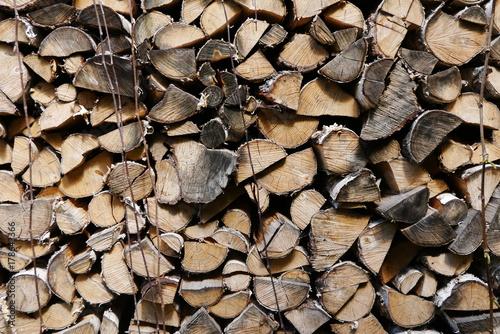 Papiers peints Texture de bois de chauffage Wood for fireplace