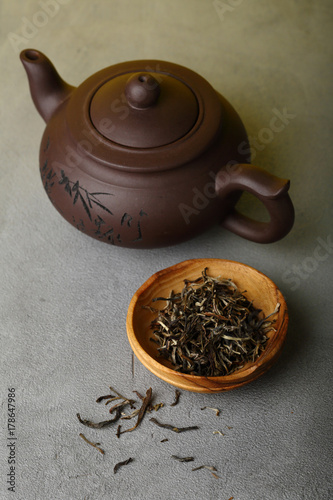 Papiers peints The Chinese teapot and tea