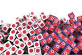 North Korea and Japan political problem, original 3d rendering conceptual illustration - 178650552