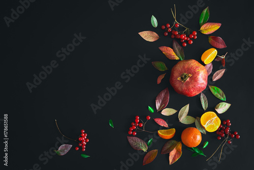 Fall dark background with a space for a text
