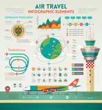 Fototapety Air Travel Infographics elements