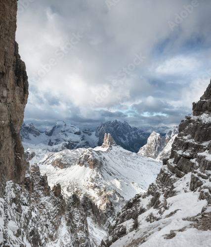 Papiers peints Taupe Mountain panorama in the Italy. Beautiful natural landscape in the Italy mountain