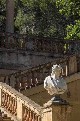 Aluminium Barcelona Public park of the Labyrinth Park of Horta, Barcelona, Catalonia