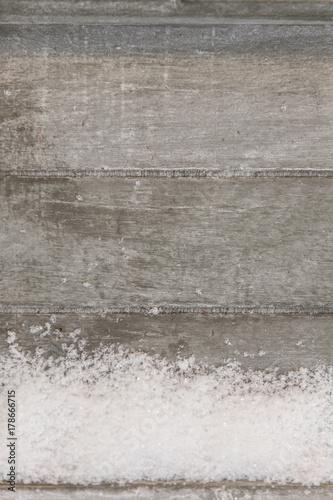 Poster Betonbehang snow flakes