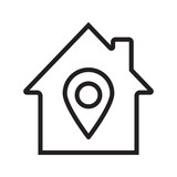 Home location linear icon - 178669363