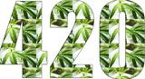 420 Marijuana Logo High Quality
