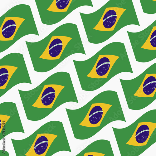 Fotobehang Graffiti Brazilian-flags-vector
