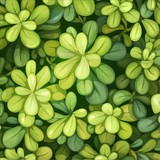 Vector background of green round leaves - 178690160