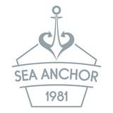 Anchor logo, simple gray style