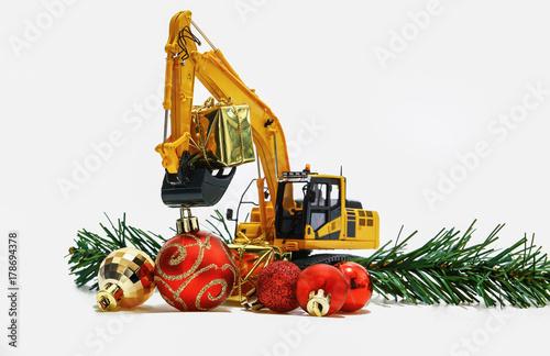 Bulldozer ornament etsy