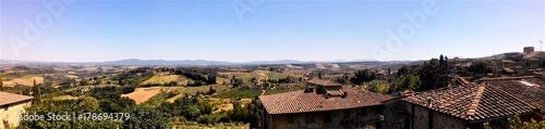 Deurstickers Toscane Blick auf San Gimignano in der Toskana