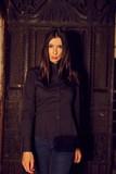 Fashion photo of trendy woman in black shirt - 178700522