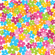 Cute colorful seamless pattern with little flowers vector illustration white background - 178701537
