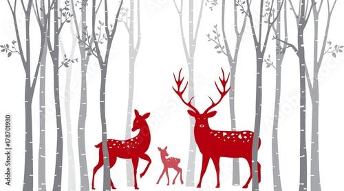 jelenie-miedzy-drzewami-w-stylu-skandynawskim