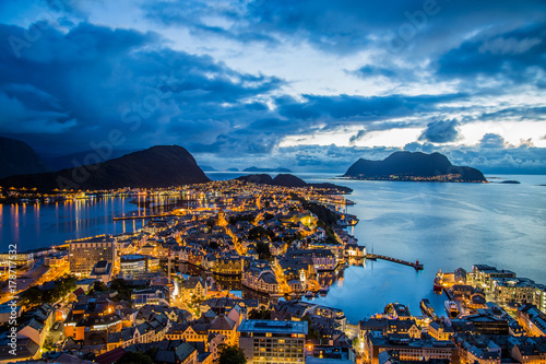 Fridge magnet Alesund viewpoint
