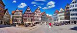 Panorama vom Marktplatz in Tübingen am Neckar, Schwarzwaldkreis