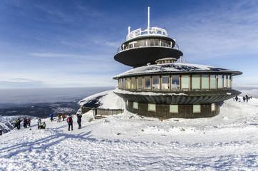 Sniezka peak in Karkonosze mountains, Karpacz, Poland