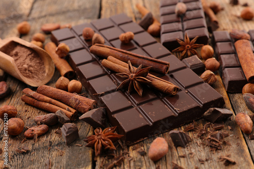 assorted chocolate and spice