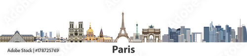 Paris vector city skyline - 178725769
