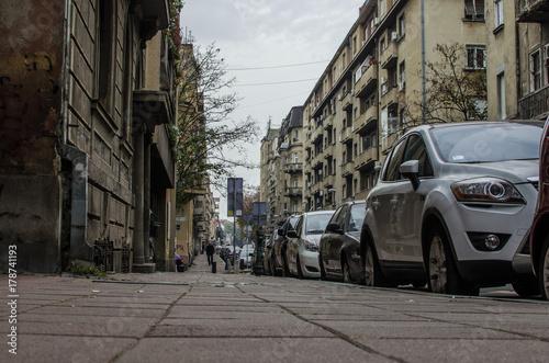 Foto op Plexiglas New York TAXI City View in Belgrade