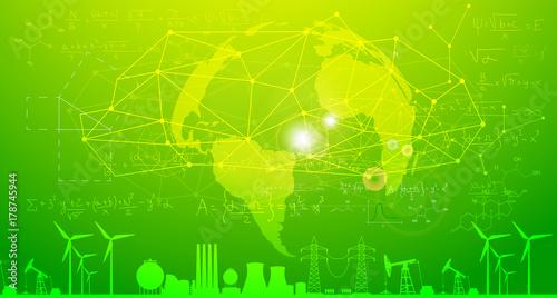Tuinposter Lime groen energie, risorse, paesaggio, energie alternative