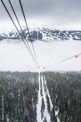 Foto op Plexiglas Canada Peak to peak cable car at Whistler, Canada