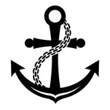 Anchor icon, simple style