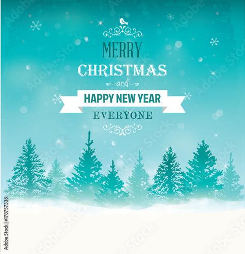 Papiers peints Piscine Christmas Greeting Card
