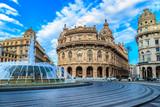 Piazza De Ferrari in Genoa Italy