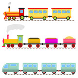 Cartoon train, children's toy train railway. - 178774369