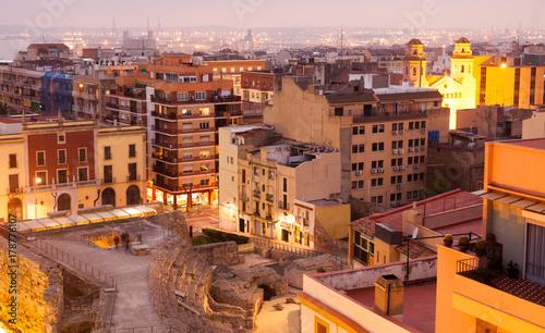 ruins of Roman walls in Tarragona. Catalonia, Spain