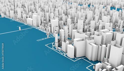 Foto op Aluminium New York new york 3d rendering