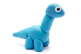 Play dough Brachiosaurus on white background