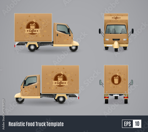 Coffee Truck Realistic Design