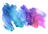 Bright watercolor stain isolated on a white background. - 178792559