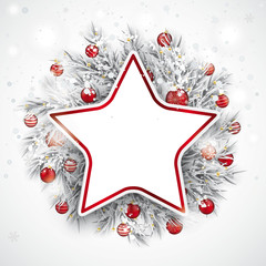 Christmas Frozen Twigs Snowfall Baubles Star
