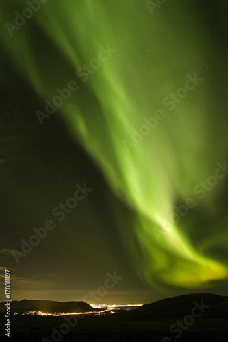 Aluminium Noorderlicht Northern Lights / Iceland