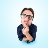 Funny man with thoughtful expression - 178820397