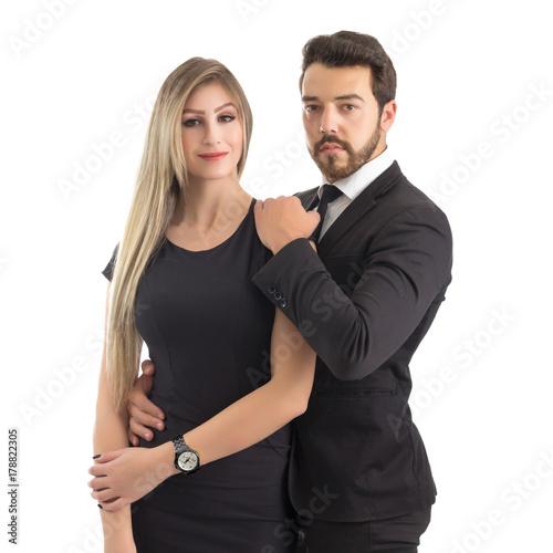 Portrait of elegant couple Poster
