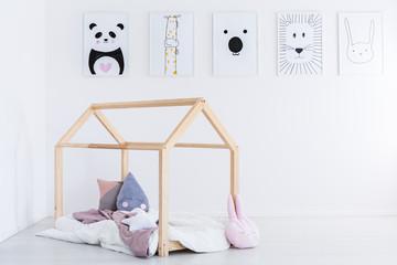 DIY bed in kid's bedroom