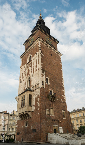 Foto op Plexiglas Krakau 13th Century Town Hall Tower Krakow Poland