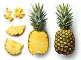 Fresh pineapple isolated on white background - 178849534