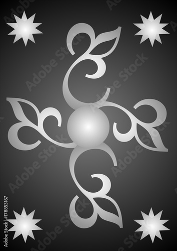 Keuken foto achterwand Vlinders in Grunge silver
